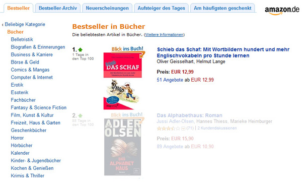 Amazon- Bestseller in Bücher